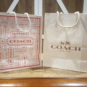 Coach small gift bags